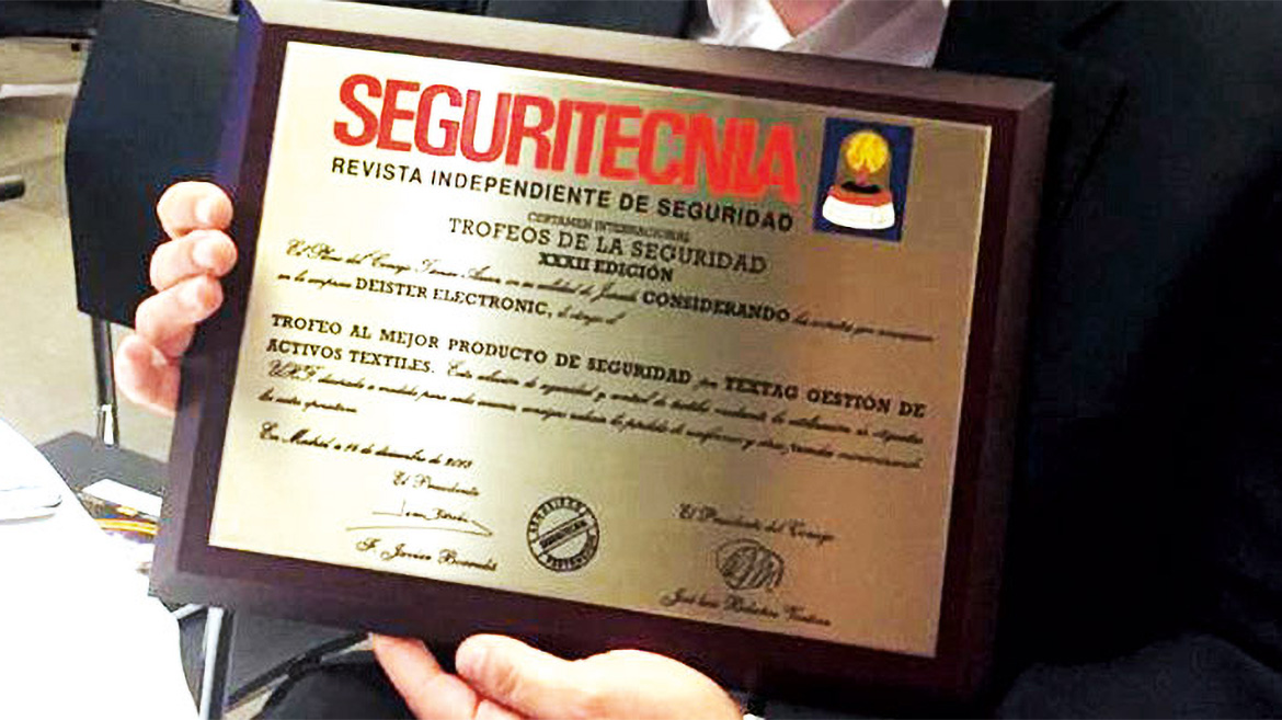 First international award for textile management system teXtag