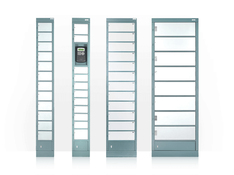 Lockers with electronic monitoring